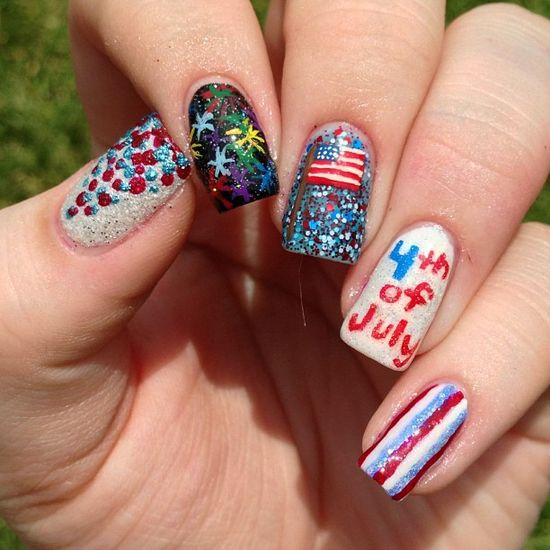 vjcnails' festive tips. Show us your 4th of July-inspired nails! Tag your pic #SephoraNailspotting to be featured on our social sites.
