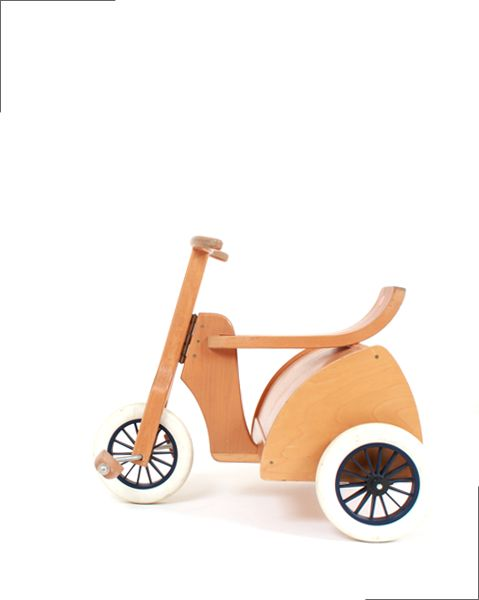 TRICYCLE vintage wood toy