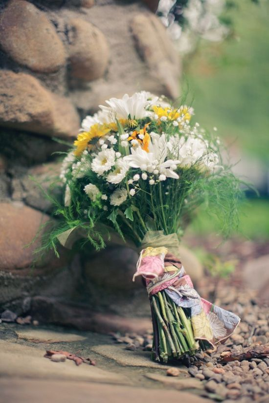One of the best rustic and romantic bouquets
