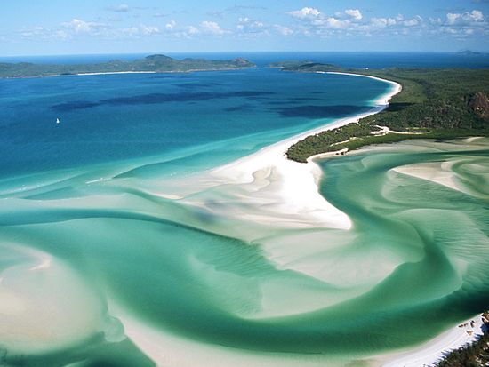 One of my favorite places in the world. Whitehaven Beach, Whitsunday Islands in Australia