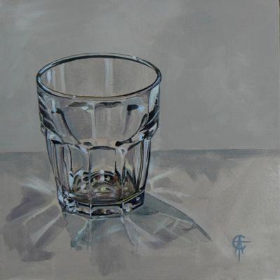Small glass  30x30 Acrylic  ©CatSalterArt