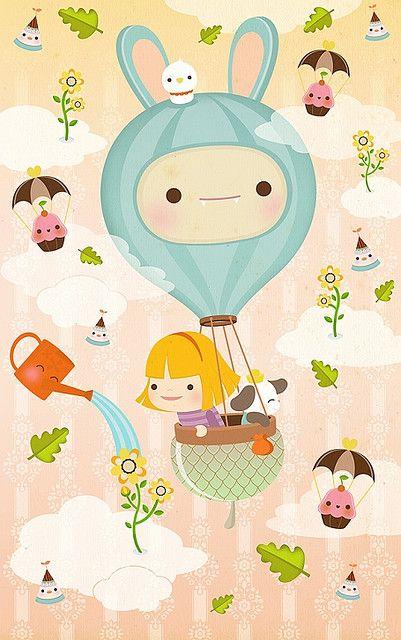 Illustration: hot air balloon
