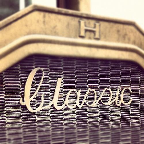 Antique car grille