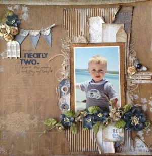 Beautiful Scrapbook Layouts by nadine