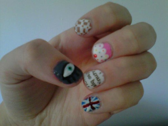 Nails by @HelenQuinnX      Are your nails more styled than your outfit? Do you have more art on your fingertips than your walls? Is your stash of polish taking over every cupboard in your house? Sounds like you could have an Obsessive Fashion Disorder.     Email us a picture of your nail designs to mailto:OFD@asos.com or tweet us a pic with the hashtag #ASOSOFD and the coolest, craziest and most creative pics will be to be diagnosed with OFD will be posted on the ASOS Pinterest.