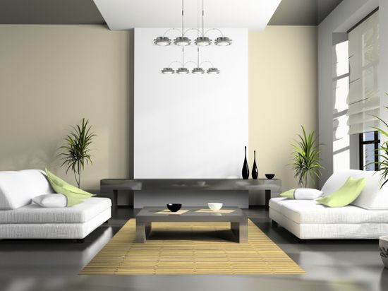 Home interior with high