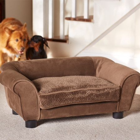 Microfiber Pet Bed with toy storage.  I would need two really big ones but so cute