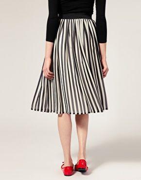 Striped Midi Skirt at Asos.