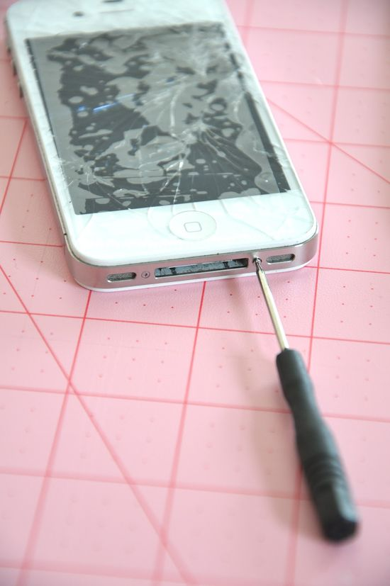 Just in case.....how to fix a cracked iPhone..