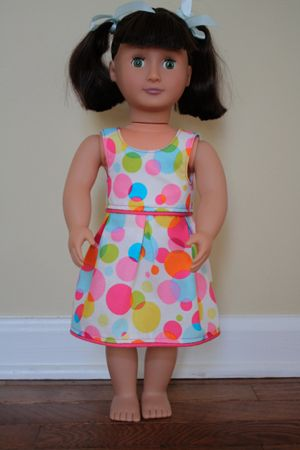 American Girl Doll Dress Pattern & Tutorial
