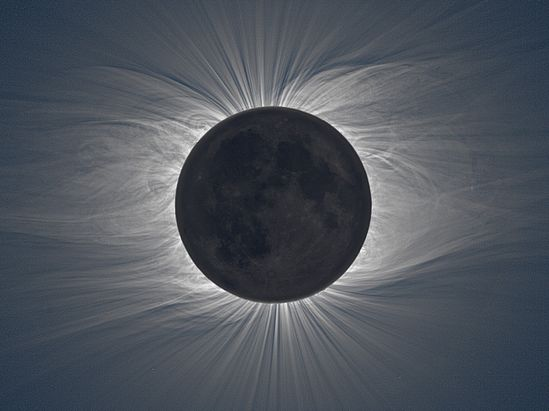 Picture of the longest Solar Eclipse we observed so far. It lasted up to six minutes and 39 seconds, a duration that will not be surpassed until 2132. - Imgur