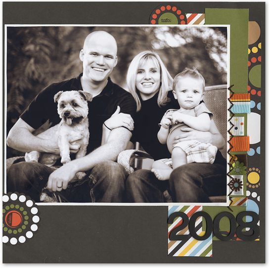 The Fam - 2008 - Scrapbook.com - #scrapbooking #layouts