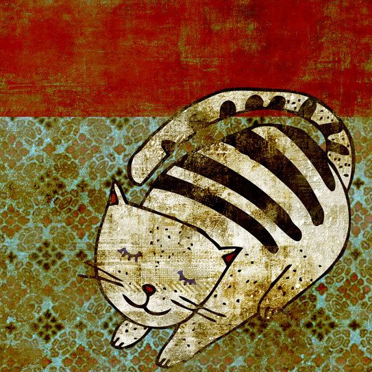Cat by schalle on Etsy, $25.00