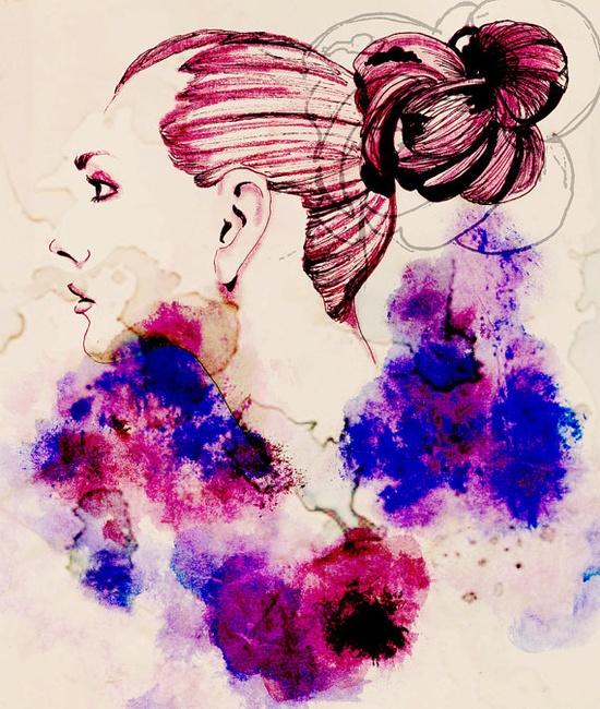 Fashion Illustration Print $23.00 #fashion #illustration #watercolor #pen #ink #design #print #poster #girl