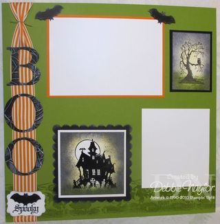 #papercraft #scrapbook #layout #Halloween scrapbook layout