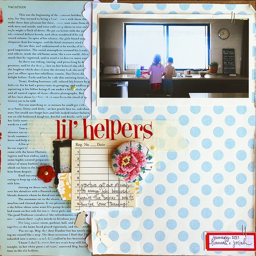 lil' helpers scrapbook page