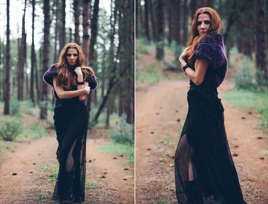 Michelle Herrick Photography, fashion photography, fall editorial, red head