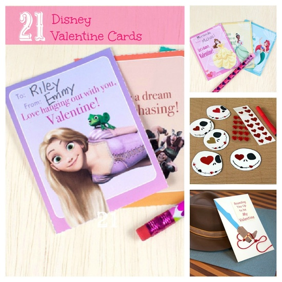 """21 FREE Disney Valentine Cards from """"Tangled"""" to """"Toy Story"""", and more! #Disney"""