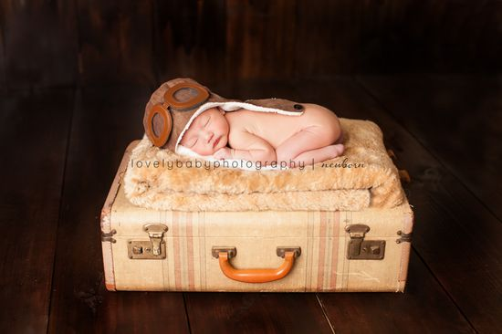 Aviator Air Force Baby - Lovely Baby Photography