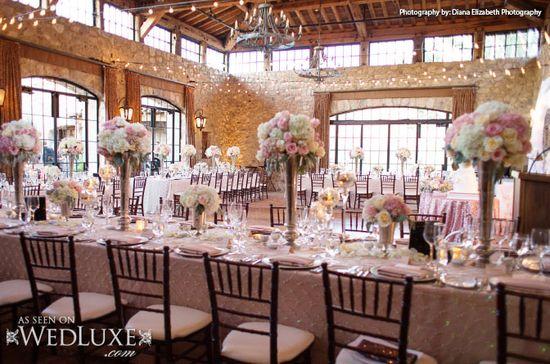 WedLuxe: dreamy pink #wedding #reception