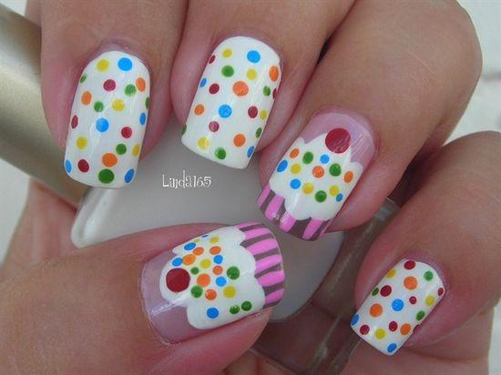 Cupcake Nails by Linda165 - Nail Art Gallery nailartgallery.na... by Nails Magazine www.nailsmag.com #nailart