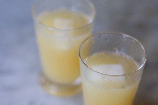 lime, grapefruit, & ginger juice.