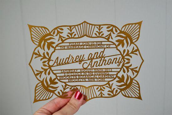 Pretty laser-cut invites.
