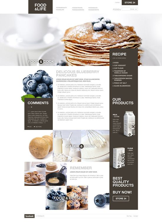 food & life #web #design