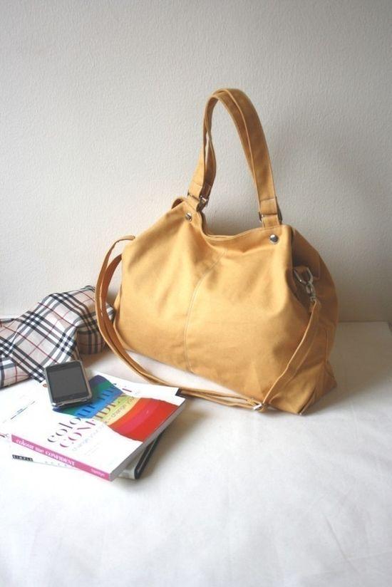 Mia in Mustard/ shoulder bag / messenger bag by christystudio, $42.00