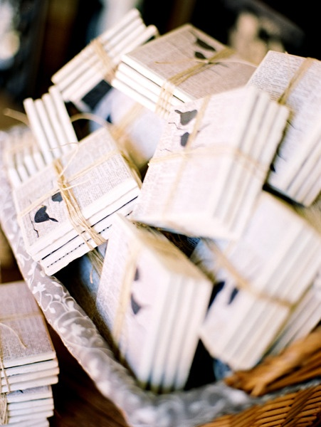 Wedding favors ~ coasters designed by the bride. Photography by ryantimmphotograp...