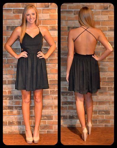 Little black dress. That back!