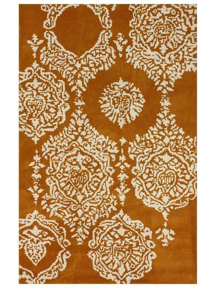 Lila Damask Handmade Rug