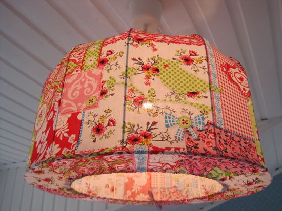 Lampshade Pendant lamp made in shabby chic