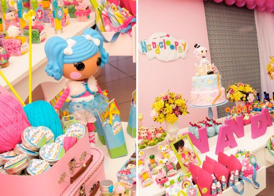 LalaLoopsy themed birthday party via Karas Party Ideas KarasPartyIdeas.com #lalaloopsy #birthday #party #ideas #cake #supplies #idea #favors #table #dessert