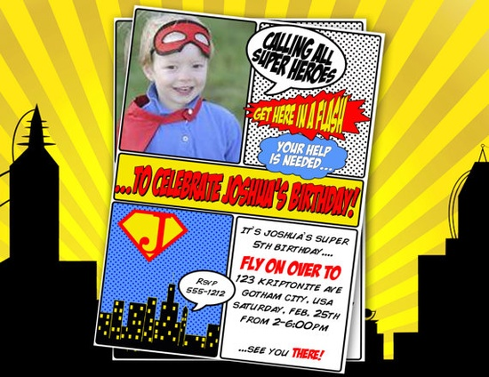 Super Hero Birthday Party Package
