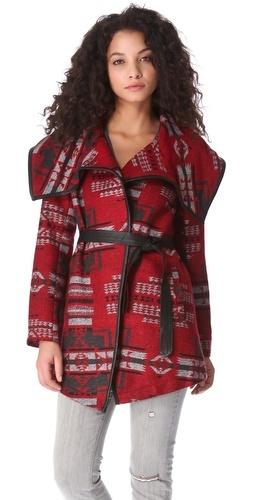 Click Image Above To Buy: Bb Dakota Vanderbilt Pattern Coat