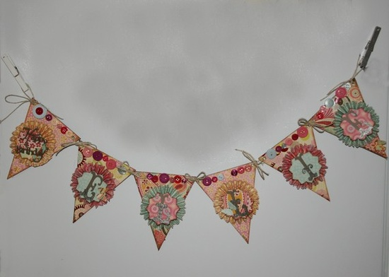 Unique paper birthday pennant garland by tutucrafts