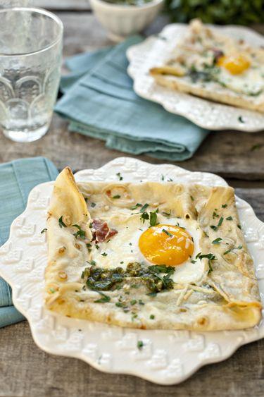Savory breakfast crepes