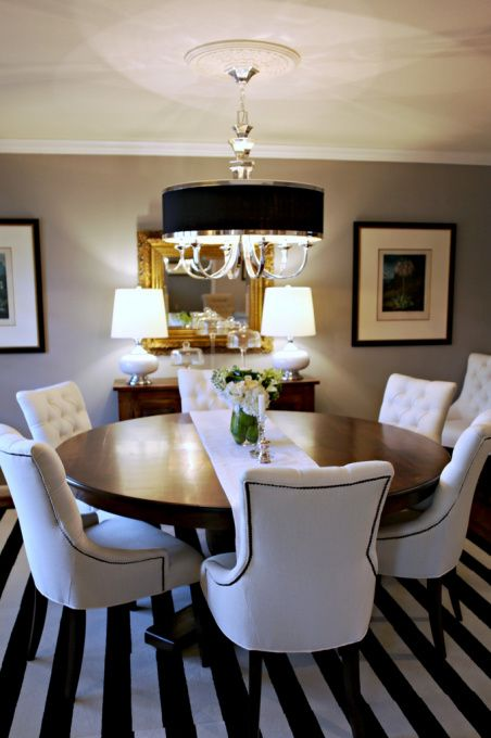 This dining room is great clean look