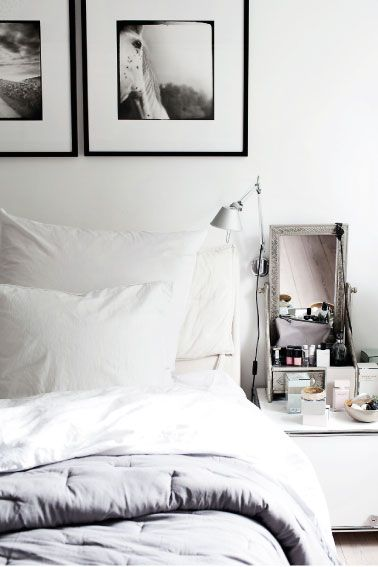 Calm bedroom, neutral colors