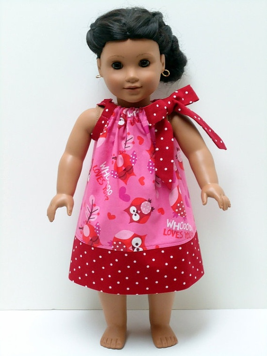 18 inch Doll Clothes Amererican Girl Valentines by WendysWhimzies, $10.00