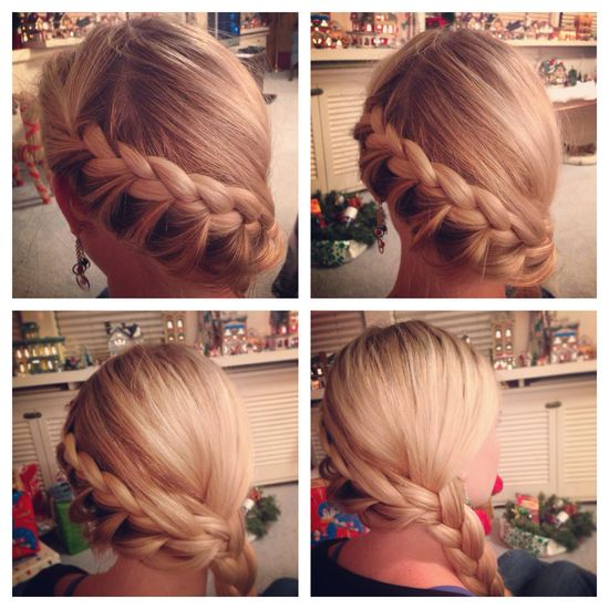 Wrap-around inside-out French braid.