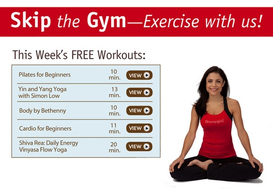 yes! free weekly workouts