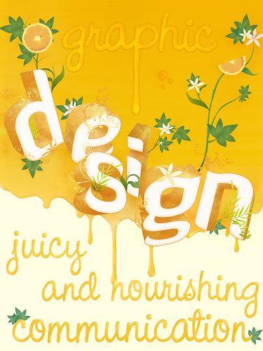 Graphic design poster.