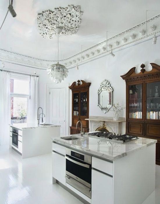 Mix of new+old // Scott Slarsky and Katarina Edlund home kitchen, Wow