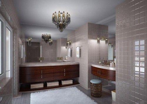 square tiles eclectic bathroom design ideas
