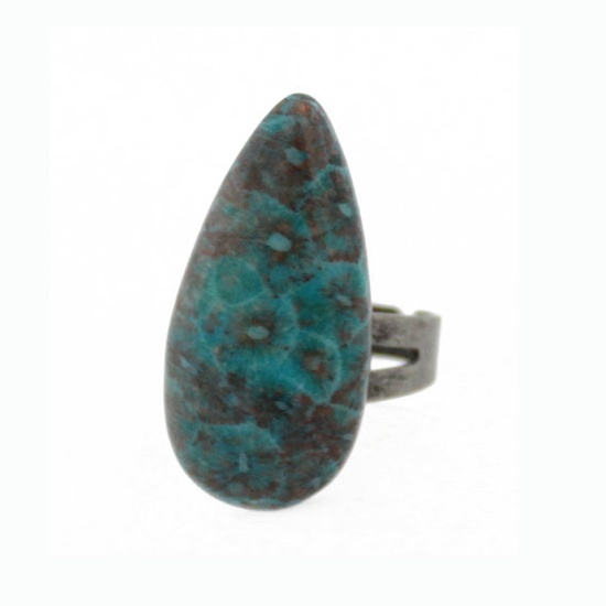 Fossil Stone Ring #etsy #turquoise #jewelry