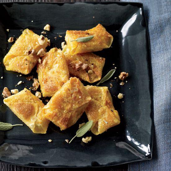 Butternut-Squash-and-Sage Wontons // More Great Asian Recipes: www.foodandwine.c... #foodandwine