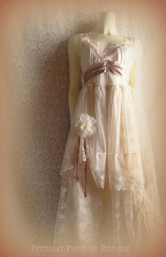 MADE TO ORDER Shabby Champagne  Blush Tea Tan by petticoatpistol, $375.00