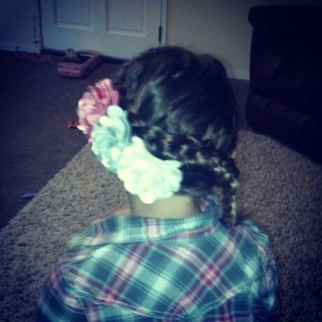 Inside out braid. Little girl hairstyle